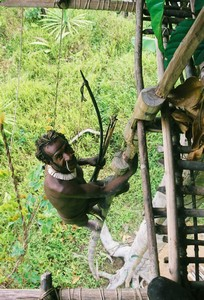 Papua-Kombai-tree people tribe
