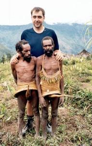 European man & Papua Yali tribe– mountain pygmey