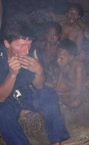 Papua-Kombai-tree people tribe. Jaromír Giecek, profesional cameraman and photograf. He do six chapter TV film serial about Papua tribelife